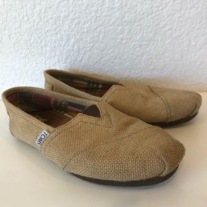 The iconic TOMS slip-ons
